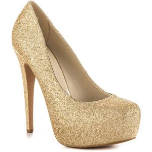 gold high heel