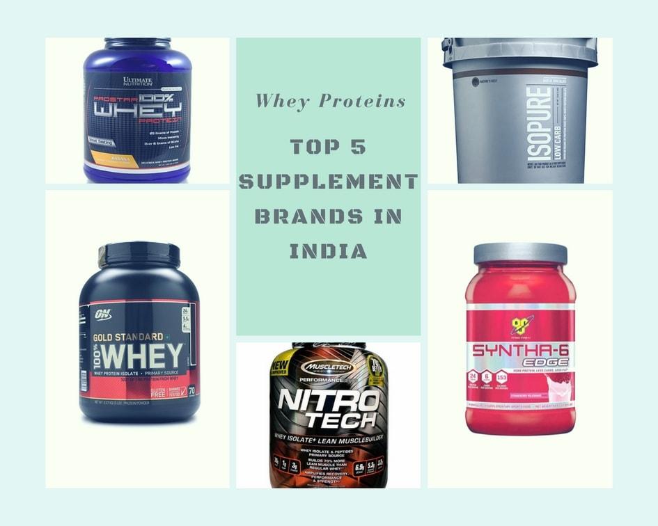 Top 5 Protein Supplement Brands in India 2018