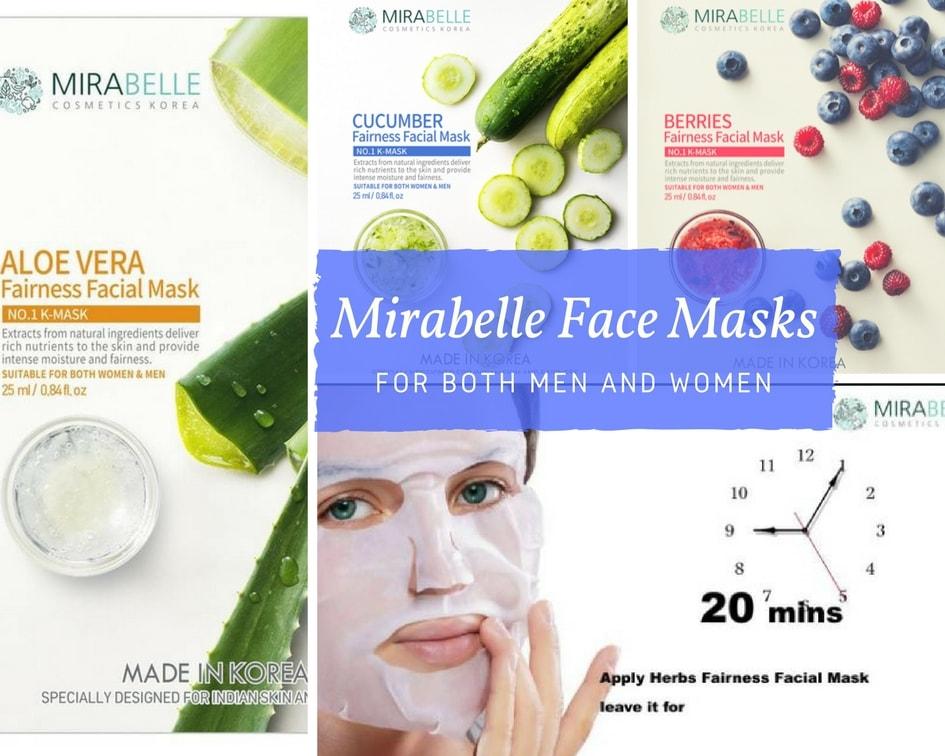 Facial Sheet Masks from Mirabelle for Men & Women