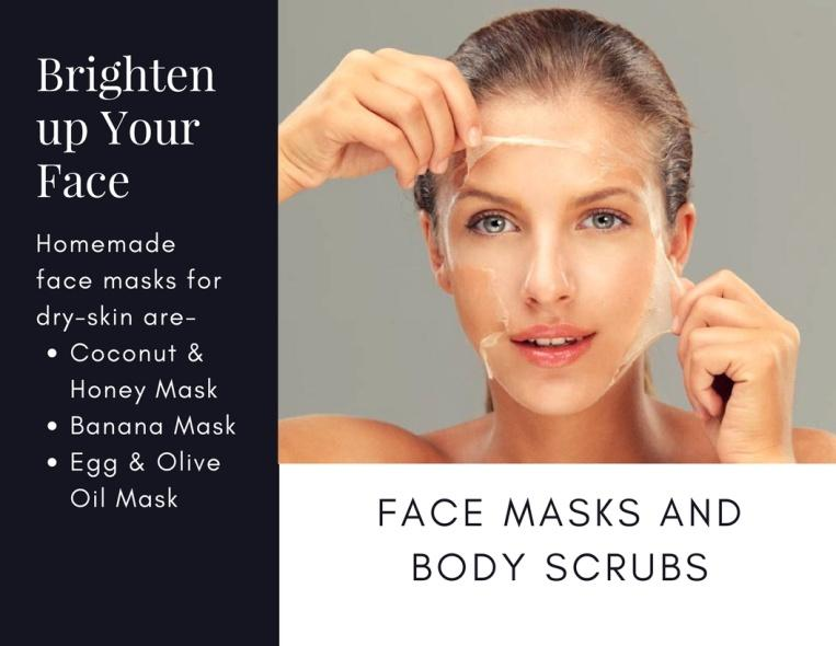 Using Face Masks and Body Scrubs