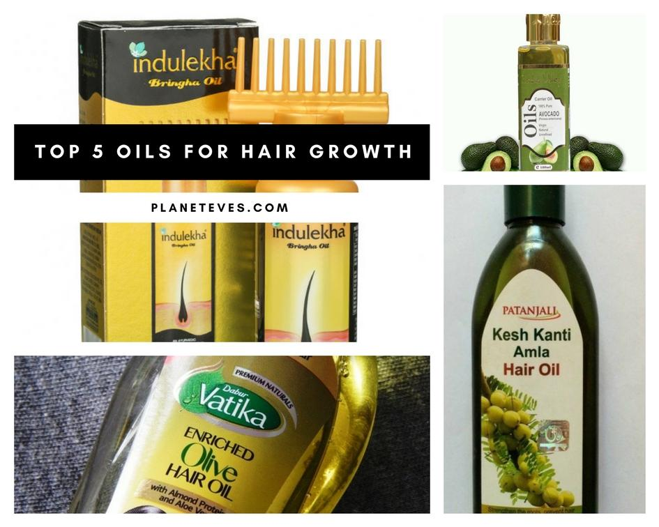 Top 5 Oils for Hair Growth