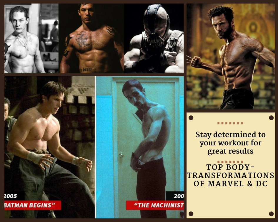 Top Body Transformations of Marvel & DC Universe